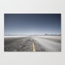 Salt Lake Road Canvas Print