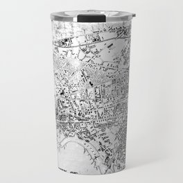 Vintage Map of Cambridge Massachusetts (1877) BW Travel Mug