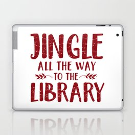 Jingle All The Way To The Library (Red) Laptop & iPad Skin