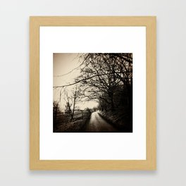 Show me the way to go home Framed Art Print
