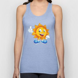 smiling sun cartoon Unisex Tank Top