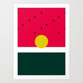 Watermelon Sunrise Art Print