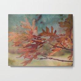 Leaves Against an Autumn Sky Metal Print