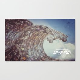 Vinyl Beach Wave Canvas Print