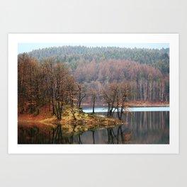 Mirroring Lake - Aggertalsperre Art Print