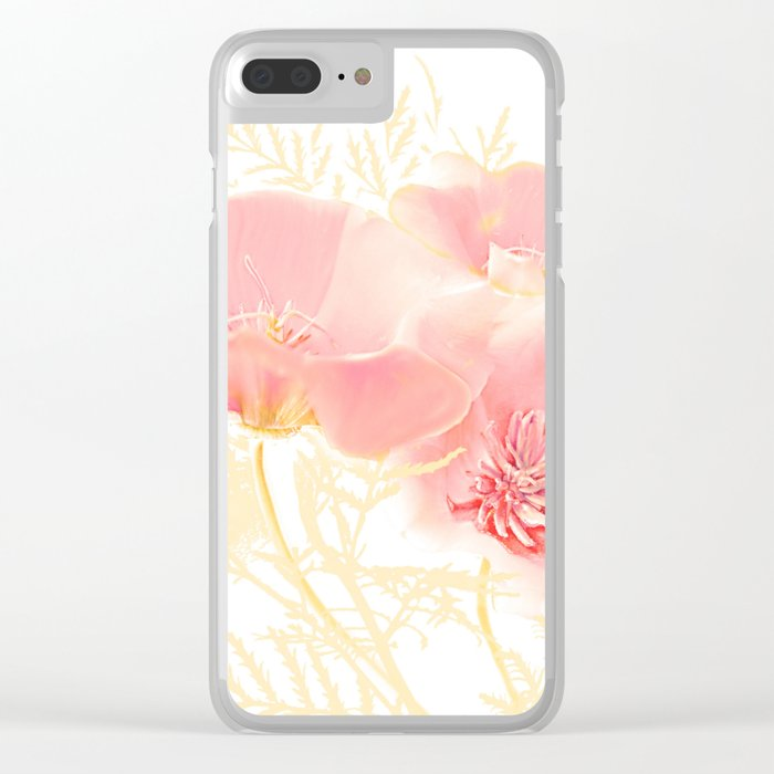 Poppies(gentle) Clear iPhone Case