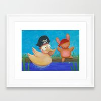 pirates Framed Art Prints featuring Pirates ! by Pinkpandas