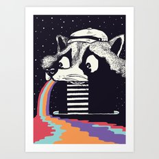 Sick Raccoon  Art Print