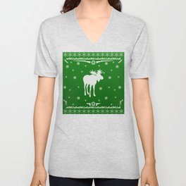 Supernatural Sam Holiday Sweater Unisex V-Neck