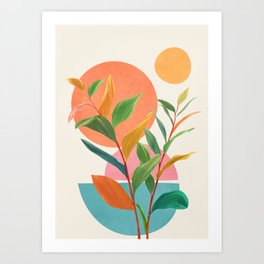 Colorful Branching Out 11 Art Print