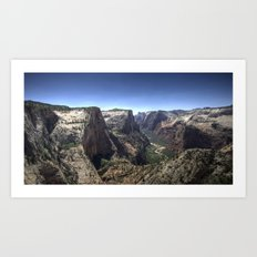 Zion Canyon Art Print