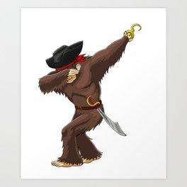 Pirate Bigfoot Viking Novelty Halloween Art Print