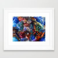 friday Framed Art Prints featuring Friday by oxana zaika