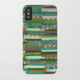 green quilt iPhone Case