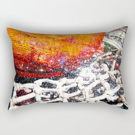 Basketball art swoosh vs 47 Rectangular Pillow