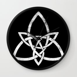 Rustic Celtic Knot - Inverted Wall Clock