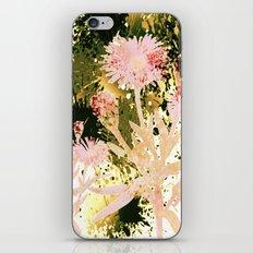 flowers and splash iPhone Skin