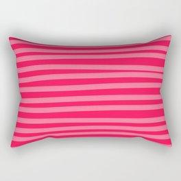 Fuchsia Brush Stroke Stripes Rectangular Pillow