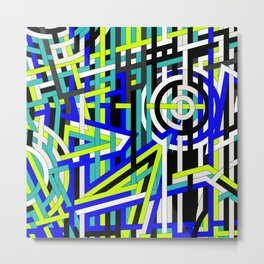 Bright Weaved Geometric Metal Print