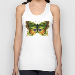 Peacock Feather Fly Unisex Tank Top