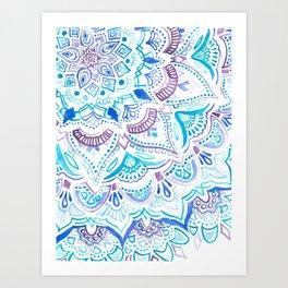 Byzantium Watercolor Mandala Art Print