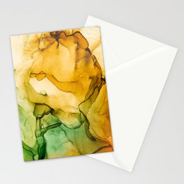 Turning Fall  - Abstract Ink Painting Stationery Cards