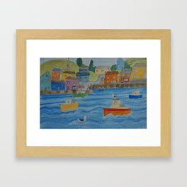 Busy Harour Framed Art Print
