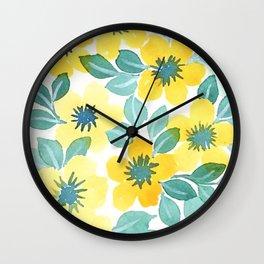 Sunny Blooms Wall Clock