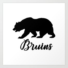 Bruins - Black bear Art Print