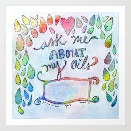 Ask Me Art Print