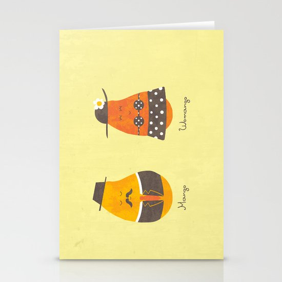 Fruit Genders Stationery Cards