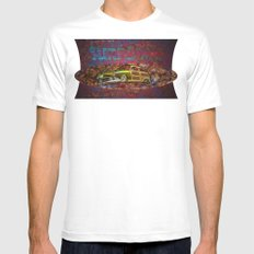 Surf Limo MEDIUM Mens Fitted Tee White
