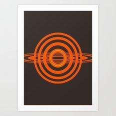 Fun rays Art Print