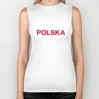 poland Biker Tanks featuring POLAND by eyesblau