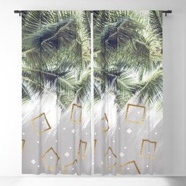 Palm trees and rhombuses Blackout Curtain