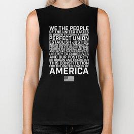 American Constitution Preamble Biker Tank