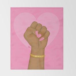 Black Lives Matter Power Fist Throw Blanket