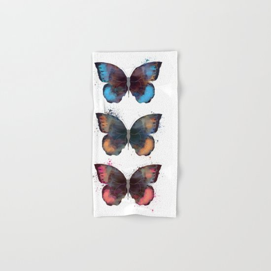 butterfly's Hand & Bath Towel