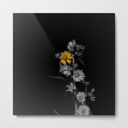 Partial Color Flower Metal Print
