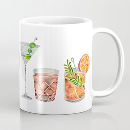 Classic Cocktails  – 1960s Watercolor Lineup Coffee Mug