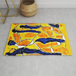 The Sun Also Rises. Society6. Watercolor. Abstract. Rug
