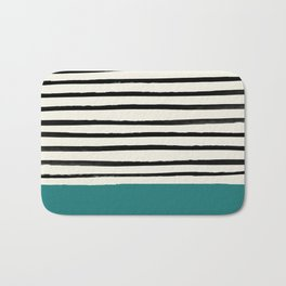 Teal x Stripes Bath Mat