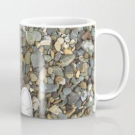 Brown pebbles and silver shoes Coffee Mug