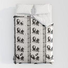 SURPRISE! - flipbook/flickbook print Comforters