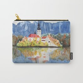 Church of the Assumption in Lake Bled Slovenia Carry-All Pouch