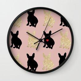 Dazzling French Bulldogs Wall Clock