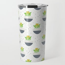 Potted Kalanchoe Plant Mom Pattern Travel Mug