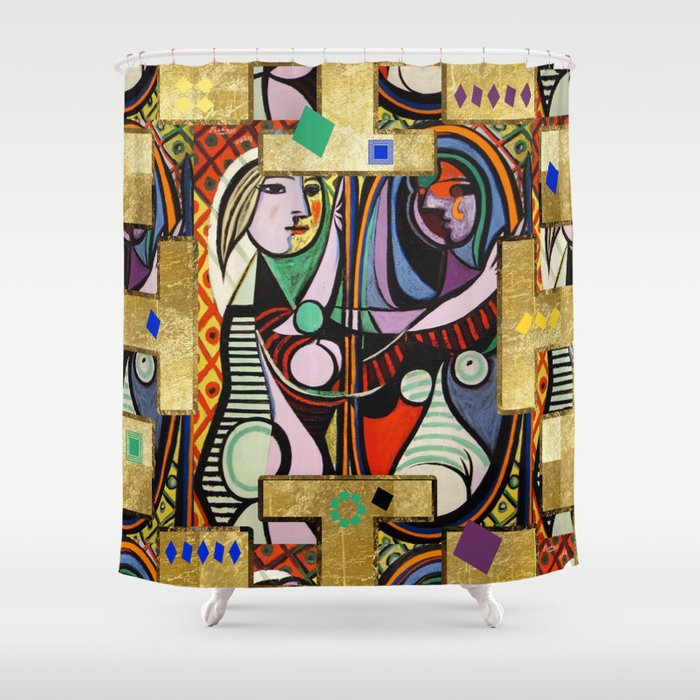 Ordinaire Picasso Collage Shower Curtain