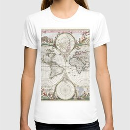 Nova orbis tabvla in lvcem edita by Frederik de Wit (1630-1706) T-shirt