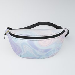 Liquid Pastel Marble Ombre 1. lilac, nude and aqua #pastelvibes #homedecor #buyart Fanny Pack